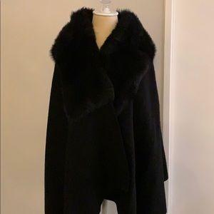 Polo Georgis Black Lamb Fur Cape